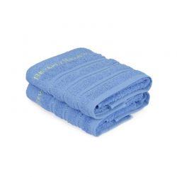 Σετ με 2 Πετσέτες Προσώπου 50 x 90 cm Χρώματος Μπλε Beverly Hills Polo Club 355BHP2214