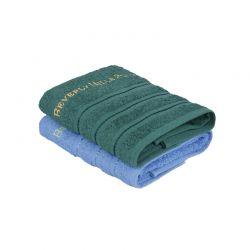 Σετ με 2 Πετσέτες Προσώπου 50 x 90 cm Χρώματος Πράσινο - Μπλε Beverly Hills Polo Club 355BHP2221