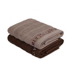 Σετ με 2 Πετσέτες Προσώπου 50 x 90 cm Χρώματος Καφέ Beverly Hills Polo Club 355BHP2271