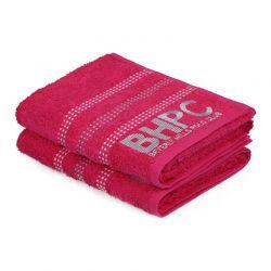 Σετ με 2 Πετσέτες Προσώπου 50 x 90 cm Χρώματος Φούξια Beverly Hills Polo Club 355BHP1262