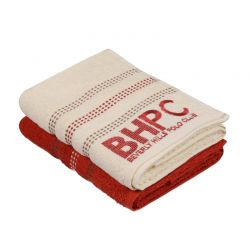 Σετ με 2 Πετσέτες Προσώπου 50 x 90 cm Χρώματος Κεραμιδί - Μπεζ Beverly Hills Polo Club 355BHP1267