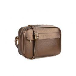Γυναικεία Τσάντα με Διπλό Φερμουάρ Χρώματος Copper Laura Ashley Furley 651LAS0821