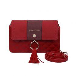 Γυναικεία Τσάντα Ώμου Χρώματος Κόκκινο Laura Ashley Monza 651LAS1605
