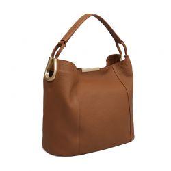 Δερμάτινη Γυναικεία Τσάντα Χειρός Χρώματος Καφέ Laura Ashley Ryedale 663LAS0128