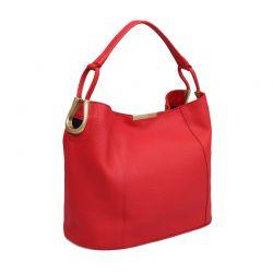 Δερμάτινη Γυναικεία Τσάντα Χειρός Χρώματος Κόκκινο Laura Ashley Ryedale 663LAS0129