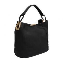 Δερμάτινη Γυναικεία Τσάντα Χειρός Χρώματος Μαύρο Laura Ashley Ryedale 663LAS0126