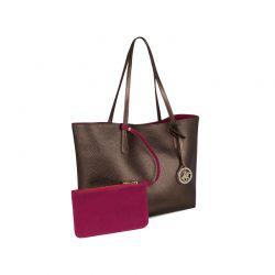 Γυναικεία Τσάντα Χειρός Χρώματος Copper Beverly Hills Polo Club 402 657BHP0780