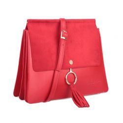 Γυναικεία Τσάντα Χιαστί Χρώματος Κόκκινο Beverly Hills Polo Club 601 657BHP0578