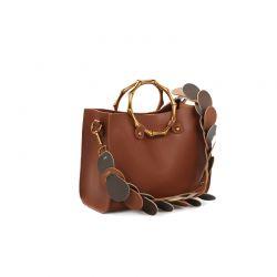 Γυναικεία Τσάντα Χειρός με Λουράκι Χρώματος Καφέ Laura Ashley Tisbury 651LAS0922