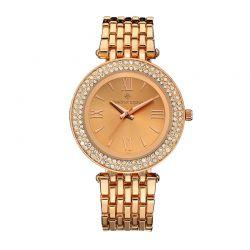Γυναικείο Ρολόι Χρώματος Ροζ - Χρυσό με Μεταλλικό Μπρασελέ και Κρύσταλλα Swarovski® Timothy Stone B-011-ALRG