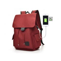Σακίδιο Πλάτης με Θύρα Φόρτισης USB Χρώματος Κόκκινο Kequ K-342