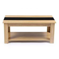 Ξύλινο Τραπέζι Σαλονιού 100 x 55 x 43.5 cm Χρώματος Καφέ Ανοιχτό Gloria SPM 30080160
