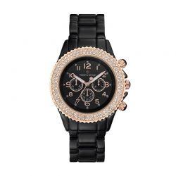Γυναικείο Ρολόι Χρώματος Ροζ - Χρυσό με Μεταλλικό Κεραμικό Ματ Μπρασελέ και Κρύσταλλα Swarovski® Timothy Stone A-052-ALBKRG