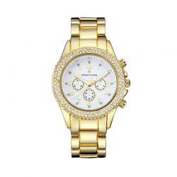 Γυναικείο Ρολόι Χρώματος Χρυσό με Μεταλλικό Μπρασελέ και Κρύσταλλα Swarovski® Timothy Stone A-042-ALGD