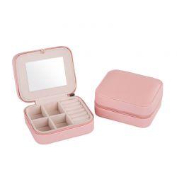 Κοσμηματοθήκη Ταξιδίου Χρώματος Ροζ SPM JewelOrgMir-PINK
