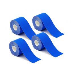 Σετ Αδιάβροχες Ταινίες Κινησιολογίας 5 cm x 5 m 4 τμχ Χρώματος Μπλε Hoppline HOP1000971-1