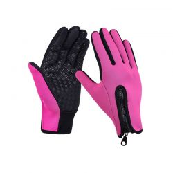 Γάντια Ποδηλάτου για Οθόνη Αφής Touch Screen Gloves Χρώματος Ροζ Large SPM DB4844