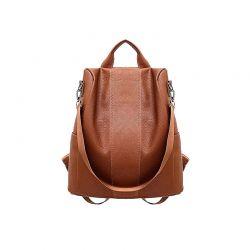 Γυναικεία Τσάντα Πλάτης Χρώματος Καφέ SPM DB5700