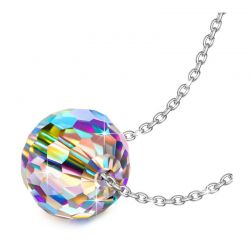 Κολιέ με Μενταγιόν Aurora Oval Philip Jones με Κρύσταλλα Swarovski®