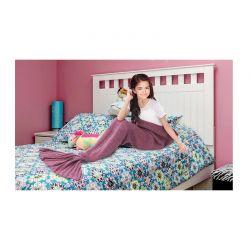 Παιδική Πλεκτή Κουβέρτα Γοργόνα 90 x 70 cm Χρώματος Ροζ SPM DYN-MermaidMini LPNK