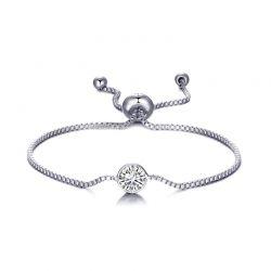 Βραχιόλι Philip Jones με Γενέθλια Πέτρα Απρίλιος - Diamond με Κρύσταλλα Swarovski®
