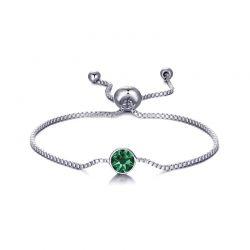 Βραχιόλι Philip Jones με Γενέθλια Πέτρα Μάιος - Emerald με Κρύσταλλα Swarovski®