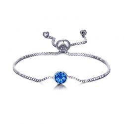 Βραχιόλι Philip Jones με Γενέθλια Πέτρα Σεπτέμβριος - Sapphire με Κρύσταλλα Swarovski®