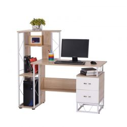 Ξύλινο Γραφείο με Θέση για Υπολογιστή 133 x 55 x 123 cm HOMCOM 920-016