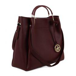 Γυναικεία Τσάντα Χειρός Χρώματος Μπορντό Beverly Hills Polo Club 396 650BHP0660