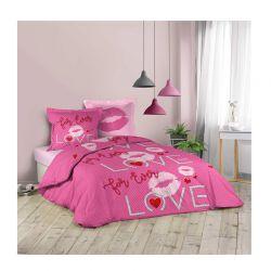 Σετ Υπέρδιπλη Παπλωματοθήκη με Μαξιλαροθήκες 220 x 240 cm Douceur d'Intérieur Sweet Pink