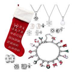 Σετ Κοσμήματα με Κρύσταλλα Swarovski® και Επαναχρησιμοποιούμενο Εορταστικό Ημερολόγιο Philip Jones
