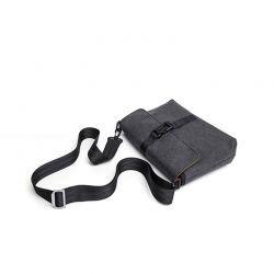 Ανδρική Τσάντα Ώμου Διπλής Όψεως Χρώματος Γκρι SPM DB5749