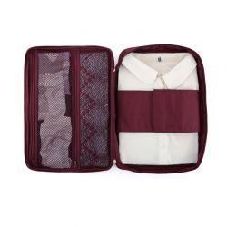 Φορητή Θήκη για Πουκάμισο και Γραβάτες Χρώματος Μπορντό SPM DYN-ShirTieOrg