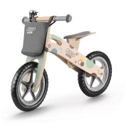 Παιδικό Ξύλινο Ποδήλατο Ισορροπίας Με Αξεσουάρ Χρώματος Γκρι Ricokids 7610