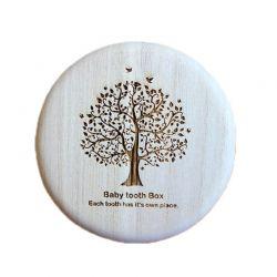 Ξύλινο Κουτί Φύλαξης Παιδικών Δοντιών SPM DYN-TreeBabyToothBox