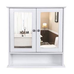 Καθρέπτης Μπάνιου με Ντουλάπι 56 x 13 x 58 cm Songmics LHC002