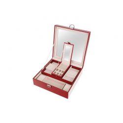 Κοσμηματοθήκη - Μπιζουτιέρα 25.5 x 25.5 x 9 cm Χρώματος Κόκκινο SPM 8891