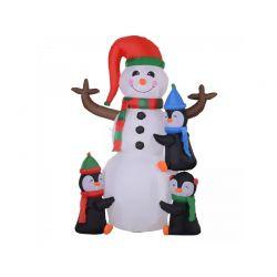 Φουσκωτός Χιονάνθρωπος και Πιγκουίνοι 1.80 m με LED Φωτισμό HOMCOM 844-232V70