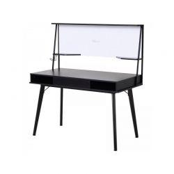 Γραφείο με Μαγνητικό Πίνακα 127.5 x 60 x 133.5 cm Χρώματος Μαύρο HOMCOM 836-131BK