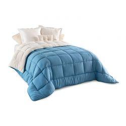 Κουβερτοπάπλωμα 200 x 200 cm Διπλό Χρώματος Μπλε Idomya 30101160