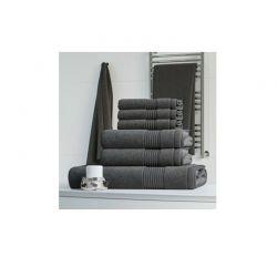 Σετ με 6 Πετσέτες Dickens από 100% Luxury Αιγυπτιακό Βαμβάκι Χρώματος Γκρι DTOWEL-6GREY