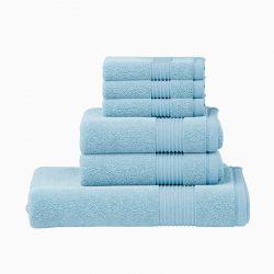 Σετ με 6 Πετσέτες Dickens από 100% Luxury Αιγυπτιακό Βαμβάκι Χρώματος Μπλε DTOWEL-6BLUE