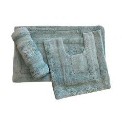 Σετ Πατάκια Μπάνιου 55 x 85 cm 3 τμχ Χρώματος Γαλάζιο HUDSON Lisa55