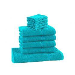 Σετ με 10 Πετσέτες Dickens από 100% Luxury Αιγυπτιακό Βαμβάκι Χρώματος Aqua D10-Teal