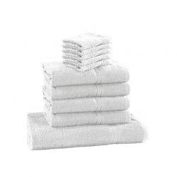 Σετ με 10 Πετσέτες Dickens από 100% Luxury Αιγυπτιακό Βαμβάκι Χρώματος Λευκό D10-White