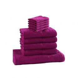 Σετ με 10 Πετσέτες Dickens από 100% Luxury Αιγυπτιακό Βαμβάκι Χρώματος Μωβ D10-Purple