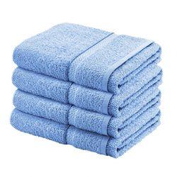 Σετ με 4 Πετσέτες Σώματος Dickens από 100% Luxury Αιγυπτιακό Βαμβάκι Χρώματος Γαλάζιο DBATHS-4BLUE