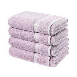 Σετ με 4 Πετσέτες Σώματος Dickens από 100% Luxury Αιγυπτιακό Βαμβάκι Χρώματος Λιλά DBATHS-4MAUVE
