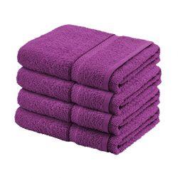 Σετ με 4 Πετσέτες Σώματος Dickens από 100% Luxury Αιγυπτιακό Βαμβάκι Χρώματος Μωβ DBATHS-4PURPLE