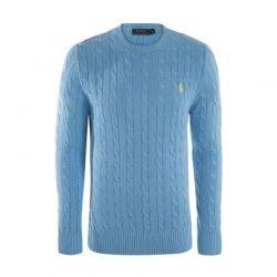 Ανδρικό Πλεκτό Πουλόβερ Χρώματος Γαλάζιο Ralph Lauren RA212680